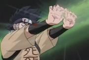 Zaku liberando som por suas mãos