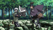 Kakashi enfrentando a Jinin
