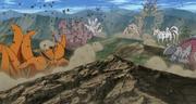 Sasuke libera a las bestias de los Chibaku Tensei