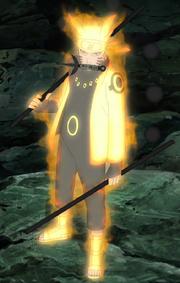 Naruto con la capa de Chakra del Modo Sabio de los Seis Caminos Anime