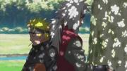 Naruto se queda dormido tras el entrenamiento