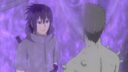 Sasuke pega Zetsu em um genjutsu
