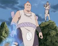 Jirōbō absorbiendo Chakra
