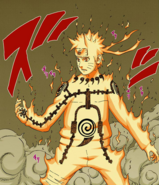 Naruto após assimilar o chakra de Kurama