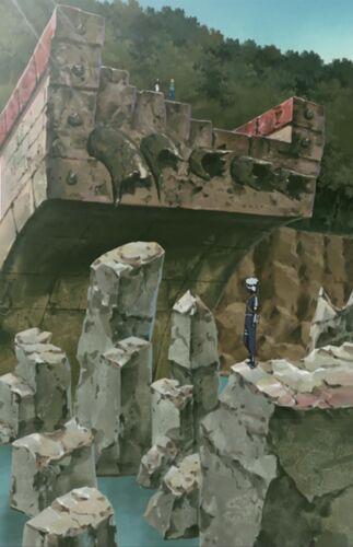 El puente destruido