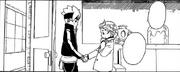 Boruto e Tentō apertam as mãos