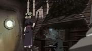 Kankurō trabajando en su taller de Marionetas