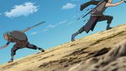 Kosuke cuts down the enemy