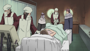 Rasa y Chiyo presenciando el nacimiento de Gaara
