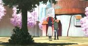 Hinata e Iruka hablan sobre la decisión de Naruto