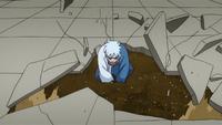 Liberação de Terra - Técnica de Esconder-se Como uma Toupeira (Mitsuki - Anime)