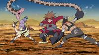 Chōji vs Suna Team