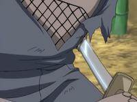 Marionete de Mizuki empunhando uma espada