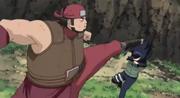 O Ninja de Iwa luta contra a suposta Hinata