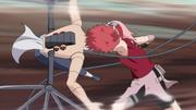 Sakura golpea fuertemente a Sasori