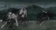 Zetsus Blancos atacados por el jutsu de Sasuke