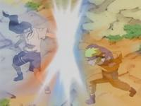 El Chakra de Naruto y Neji chocan
