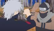 Kakashi luchando contra Kakuzu