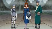 Mei acompañada por Ao y Chōjūrō