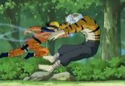 Naruto derrota a Mizuki con su Rasengan