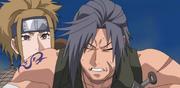 Shira protegiendo a Sen y Yome