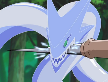 The Garian Sword's first dragon form.