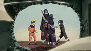 Itachi intercepta o Chidori de Sasuke