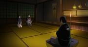 Itachi le informa a Fugaku sobre lo ocurrido con el Cuarto Hokage