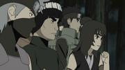 Kakashi durant l'attaque du Démon Renard