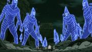 Les cinq Kage contre les Susanô de Madara