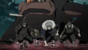 Los Hokage llegan para luchar contra Obito