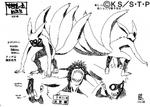 Diseño de Naruto Cuatro Colas por Pierrot