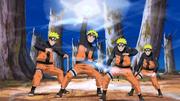 Naruto utilizando el Elemento Viento Rasen Shuriken por primera vez en ataque