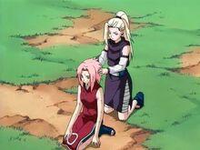 Ino and Sakura Fixing Hair