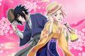 Sasuke and Sakura Taisho School Festival Card 1