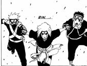 Rin, Kakashi and Obito Join Together
