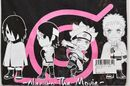 BORUTO Naruto the Movie SD chara T-shirts black color