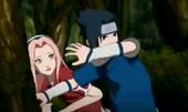Sasuke protects Sakura