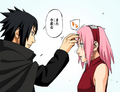 Sasuke talks to Sakura