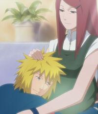 Minato-hugs-kushina
