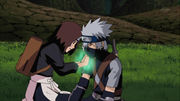 Rin healing Kakashi