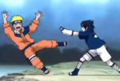 Sasuke pushes Naruto
