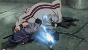 Kakashi intercepts Sasuke