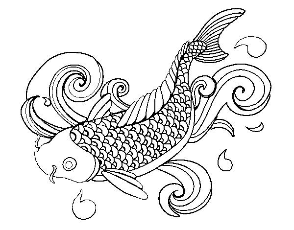 koi fish coloring pages gamespng - Koi Fish Coloring Pages