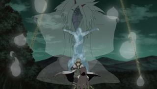 Minato summons the Shinigami