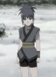Guren as a child in winter scene