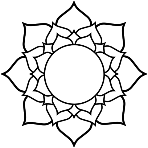 FileColoring Book Of Flags Lotus Black White Line Flower Art Coloring Sheet Colouring Page