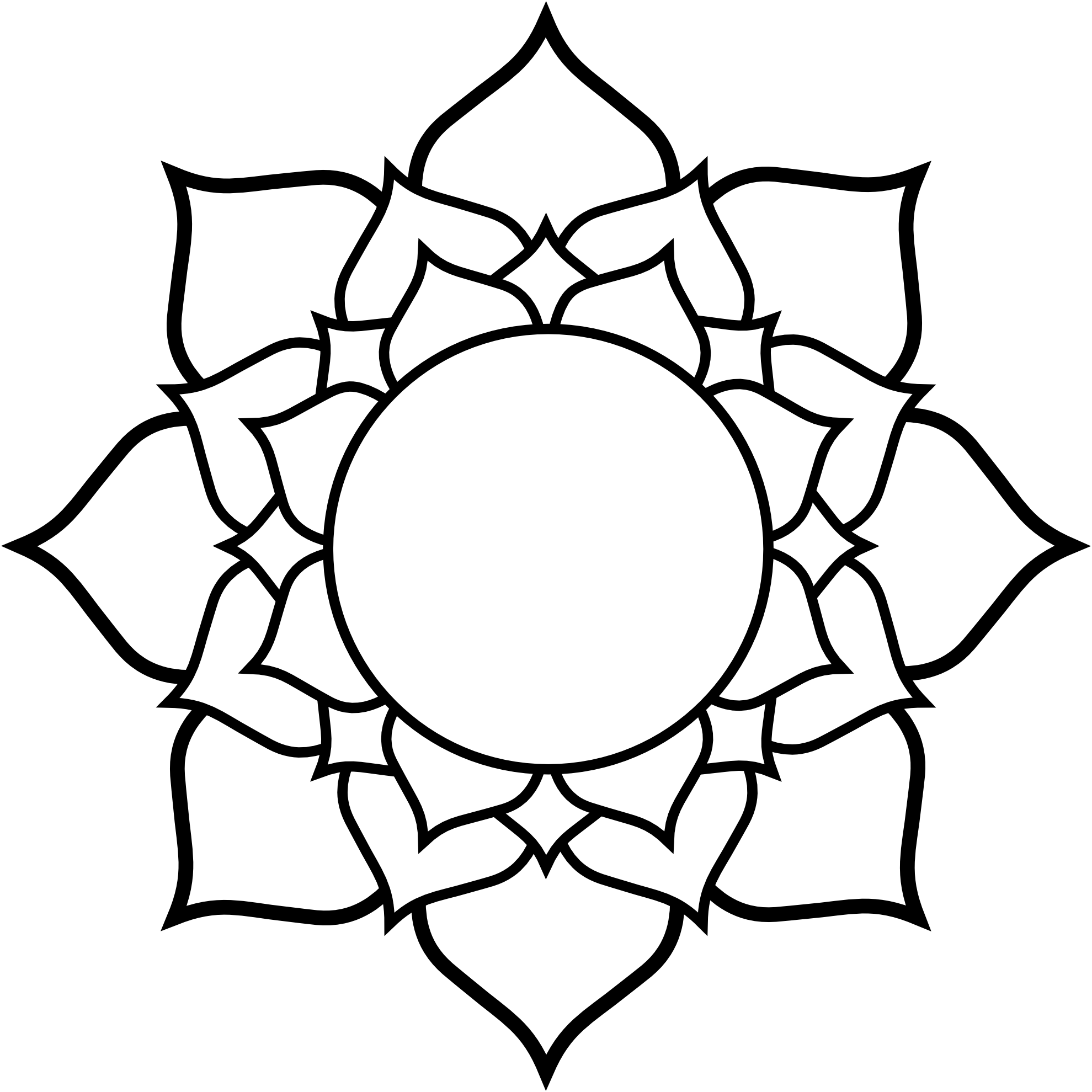 Image Coloring Book Of Flags Lotus Black White Line Flower Art