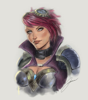 Vi the piltover enforcer by yaztory-d5q6imt