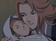 Sawaii with her mother